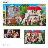Домик Happy Family , флоксовые животные, в кор. 65 34 17см 012-01