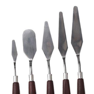 Мастихин наборы 5 шт. мастіхін мастіхіни мастихины для рисования малювання масло маслом красками фар