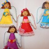 Ангелочки-Подвесочки ко дню Николая. Ручная работа. Сделано с любовью