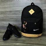 Есть расцветки Спортивный, городской рюкзак Nike Найк с кож. дном. Лучшая цена
