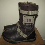 Чоботи брендові шкіряні хутро Baren Schuhe Оригінал Німеччина р.25 стелька 18 см