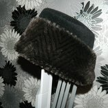 Шапка зимняя с мехом Fiore L
