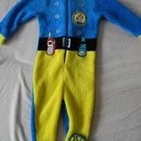 Флисовый слип, пижама, домашний костюм George на 12-18 мес.