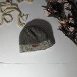 Детская шапка Шерсть зима MIZ утепленная коричневая беж