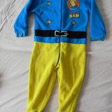 флисовый слип, пижама, домашний костюм George 2-3 года.