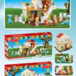 Домик happy family 1514 . Животные флоксовые. аналог sylvanian families