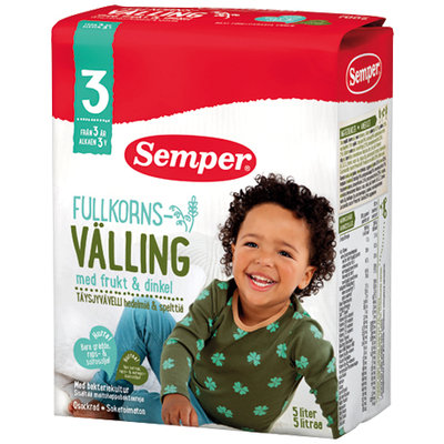 Вэллинг Семпер с лактобактериями с 3-х лет, Швеция, овес, пшеница, рожь, полба, яблоко, банан, груша