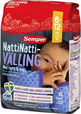 Вэллинг ночной Семпер Semper овсянка с кукурузой, с 6-ти месяцев 725 грамм, под закз со Швеции