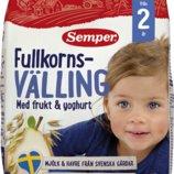 Мультицельнозерновая каша фрукты и йогурт Семпер Semper 725 грамм от 2 лет, под заказ со Швеции