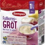 Цельнозерновая фруктовая и йогуртовая каша Semper 18-ти месяцев, со Швеции