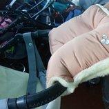 Муфта для коляски и санок на овчине, муфты в коляску или санки зимняя