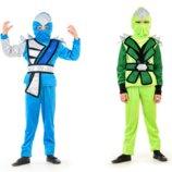 Костюм зелений нінзя, зеленый нинзя, синій нінзяго, Нинзяго, на 110-130 - Позняки