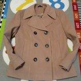 Крутое коричневое пальто от Marks&Spencer, размер 12