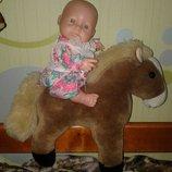 Лошадка пони для беби борн с куколкой