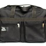 Вместительная мужская сумка черного цвете W 2630