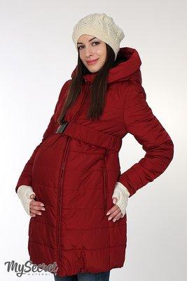 6895a83b1991 Очень теплая зимняя куртка для беременных, бордовая  2810 грн ...