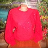 итальянский свитер теплый с начесом новое состояние,замеры