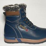 Ботинки зимние на мальчика синие, В7616-1, Тм Paliament , размеры 27, 28, 29, 30, 31, 32