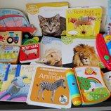 Книги на английском картонные, музыкальные, книжки картинки, животные и др. для малышей