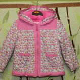 демисезонная курточка на девочку 3-5 лет состояние идеальное