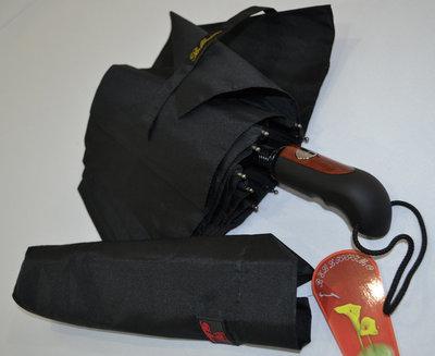 Качественный солидный мужской зонт полуавтомат Антиветер, 10 спиц карбон