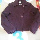 Крутое пальто баклажан от Camaieu, размер 38 46