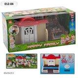 Домик Happy Family , флоксовые животные, в кор. 41 20,5 17,5см 012-04
