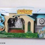 Домик Happy Family , флоксовые животные, сведебная церемония, 012-09