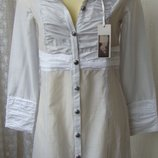 Платье рубашка модное хлопок Ahsen р.42 7291
