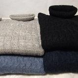Рост 122- 158 -мягкий тёплый гольф-свитер рисунок - полукосы