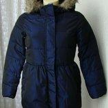 Детская куртка теплая капюшон Gap 12 лет 7296
