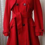 Пальто модное красное шерсть Warehouse р.46 7302