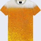 Футболка 3D Beer bubbles Большой выбор
