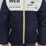 Зимняя куртка, пуховик, для мальчика, новая, синяя, рост 134-140, 146-164