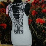 Новая женская майка с кружевом на спине р. 42-44 Fashion Collection