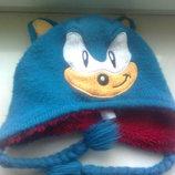 Зимняя шапка на мальчика 4-8 лет