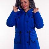 Зимняя куртка/парка для девочек/подростков, натуральная опушка, 38,40,42,44,46