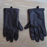 Перчатки женские кожа рр L Marks&Spencer Маркс и Спенсер коричневые