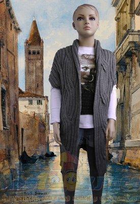 Длинная вязанная кофта. Fun&Fun. Италия. 9-10 лет