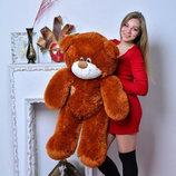 Плюшевая игрушка медведь, мишка 110 см, разные цвета