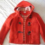 Фирменное тёплое пальто Lacoste Франция с капюшоном