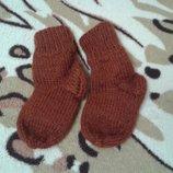 вязанные носочки стопа 10- 11 см
