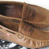 Стильные кожаные супер легкие мужские мокасины Levis весна лето осень туфли Турция качество отличное