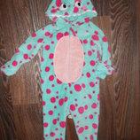 Теплющая пижама-человечек на девочку 2-3 года