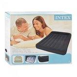 Полуторная надувная кровать с подголовником INTEX 66780 137Х191Х30 См. встроенный насос 220V.