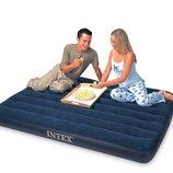INTEX 68758 137Х191Х22СМ надувной матрас флокированный