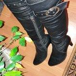 Зимние кожаные сапоги-ботфорды Lider 37 размер
