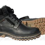 Мужские кожаные зимние ботинки R-4