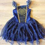 Карнавальное нарядное платье с подсветкой Ведьмочки Колдуньи Волшебницы 3-5 лет