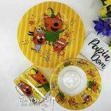 Детский набор - посуда Мультики - 3 предмета - стекло